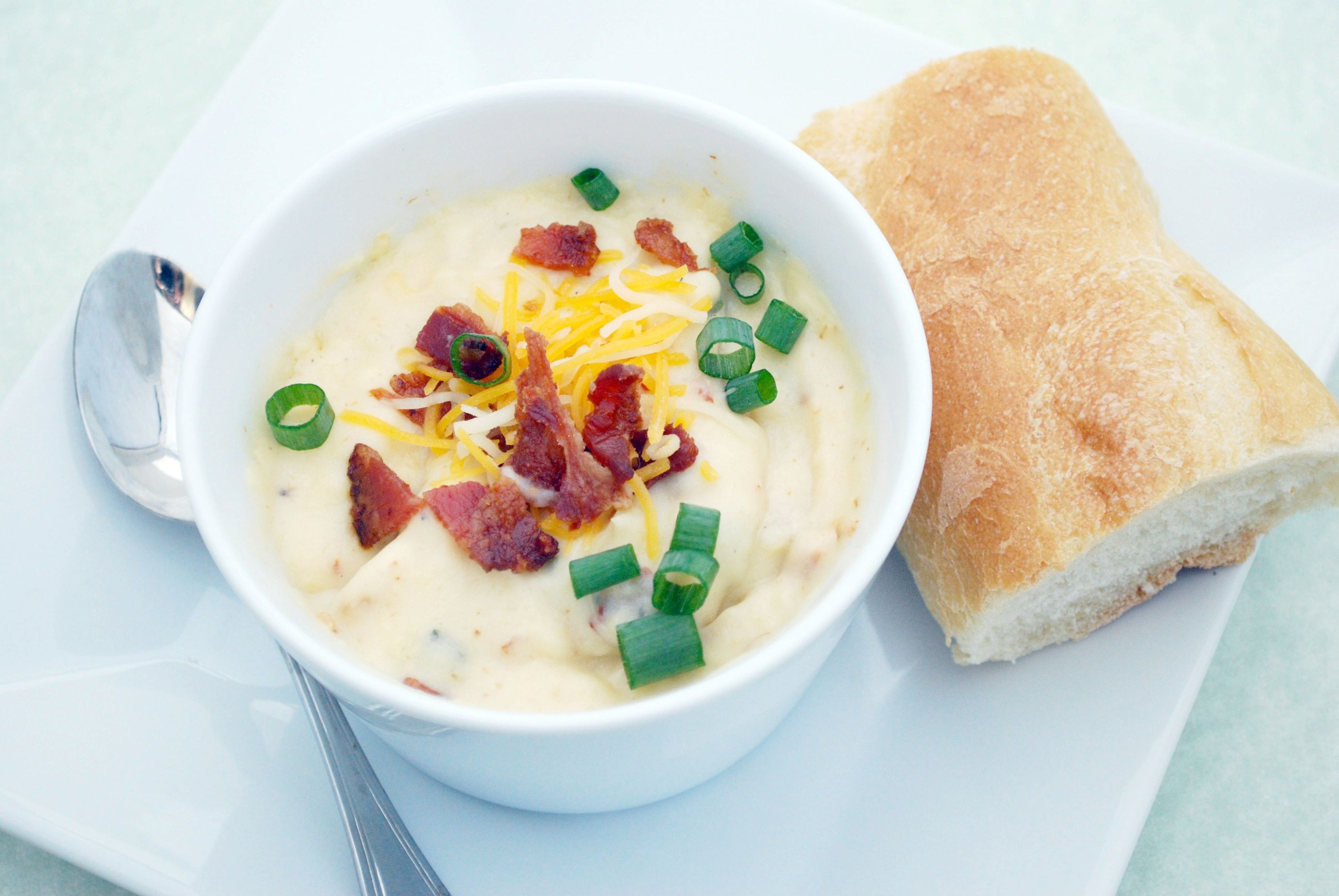 Loaded Baked Potato Soup Recipe | Cake and Allie