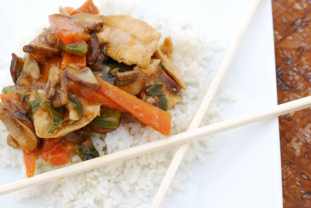 Stir-Fried Chicken with Spicy Thai Basil Sauce Recipe | Cake and Allie