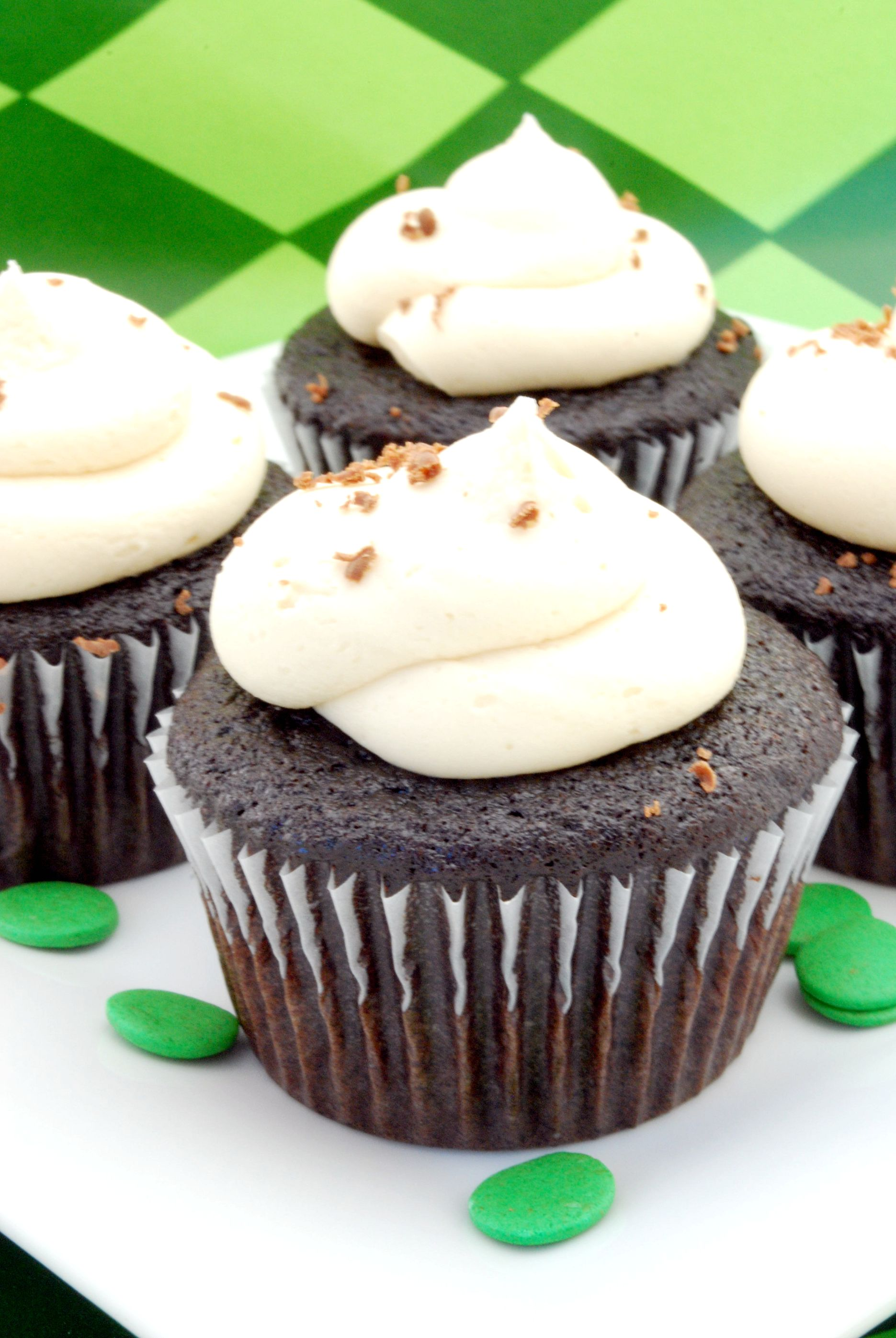 Guinness, Jameson & Baileys Cupcakes Recipe | Cake and Allie