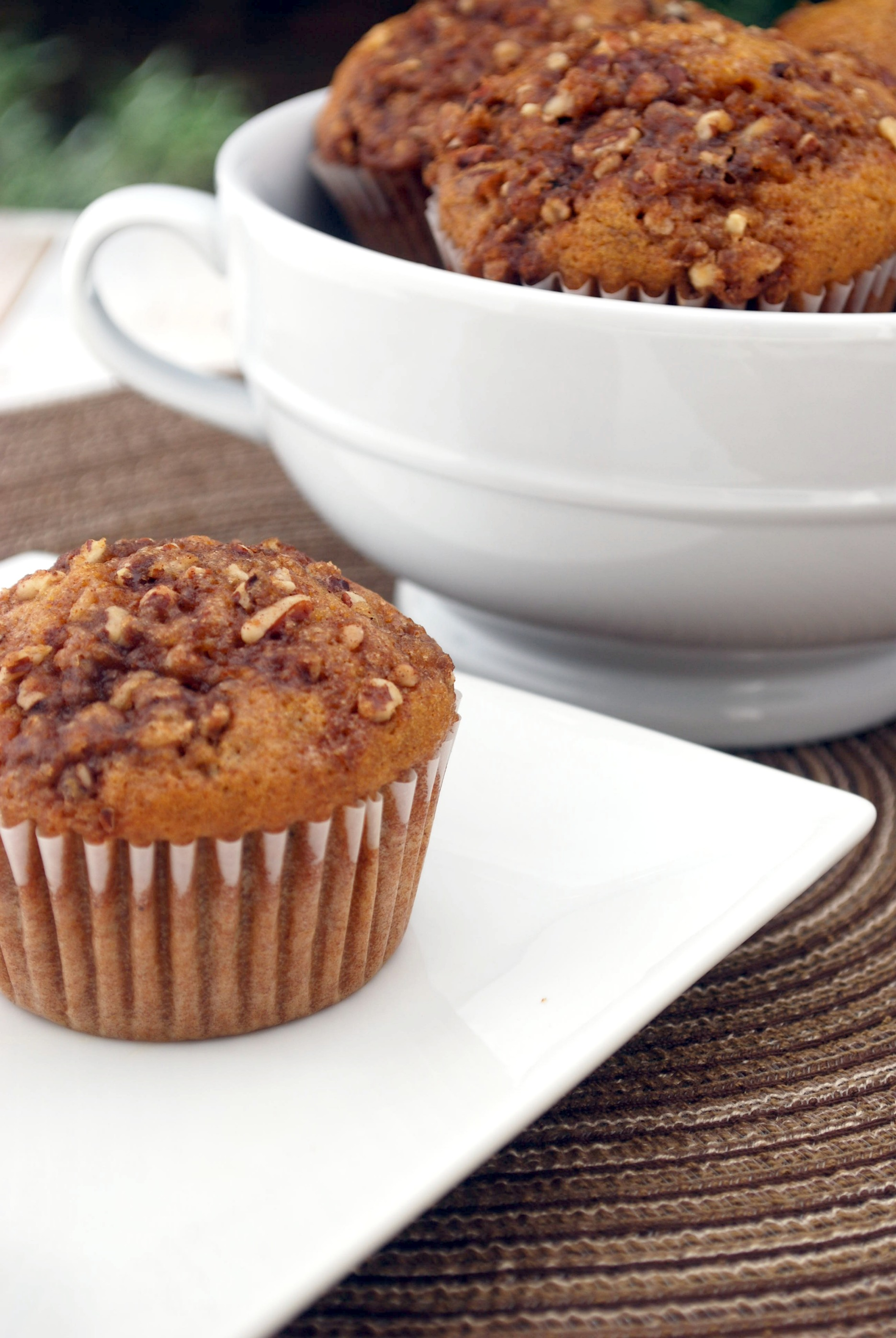 Pumpkin Spice Muffins with Pecan Streusel Topping Recipe | Cake and ...