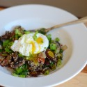 Swiss Chard and Quinoa Poached Egg
