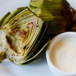 Broiled Artichokes Close