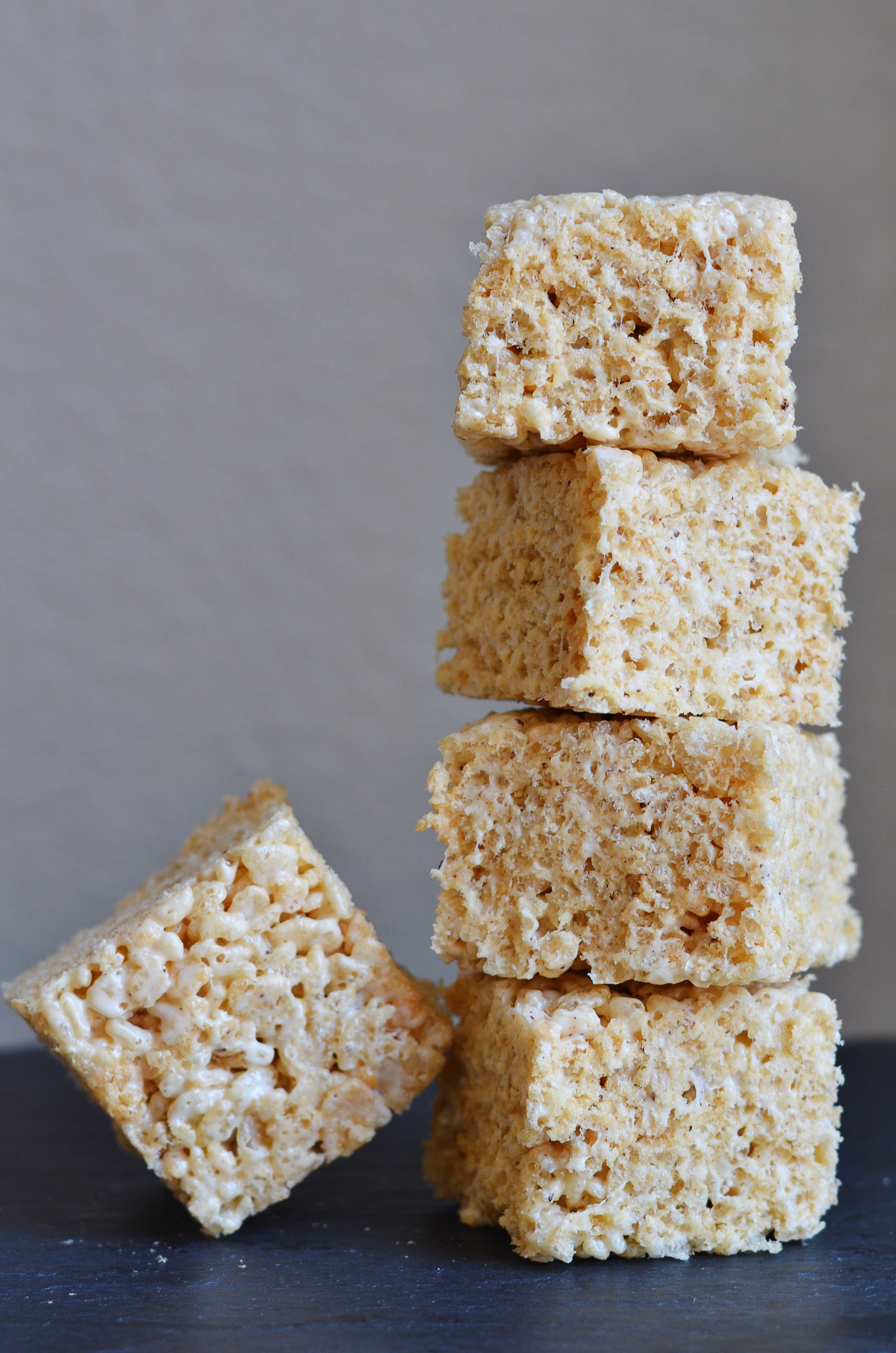 Salted Brown Butter Rice Krispie Squares Recipe | Cake and Allie